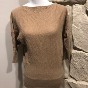 Ann Taylor 3/4 sleeve camel colored sweater xl